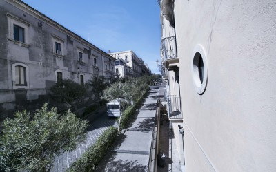 View on Via di Sangiuliano from MarcHouse's dining room